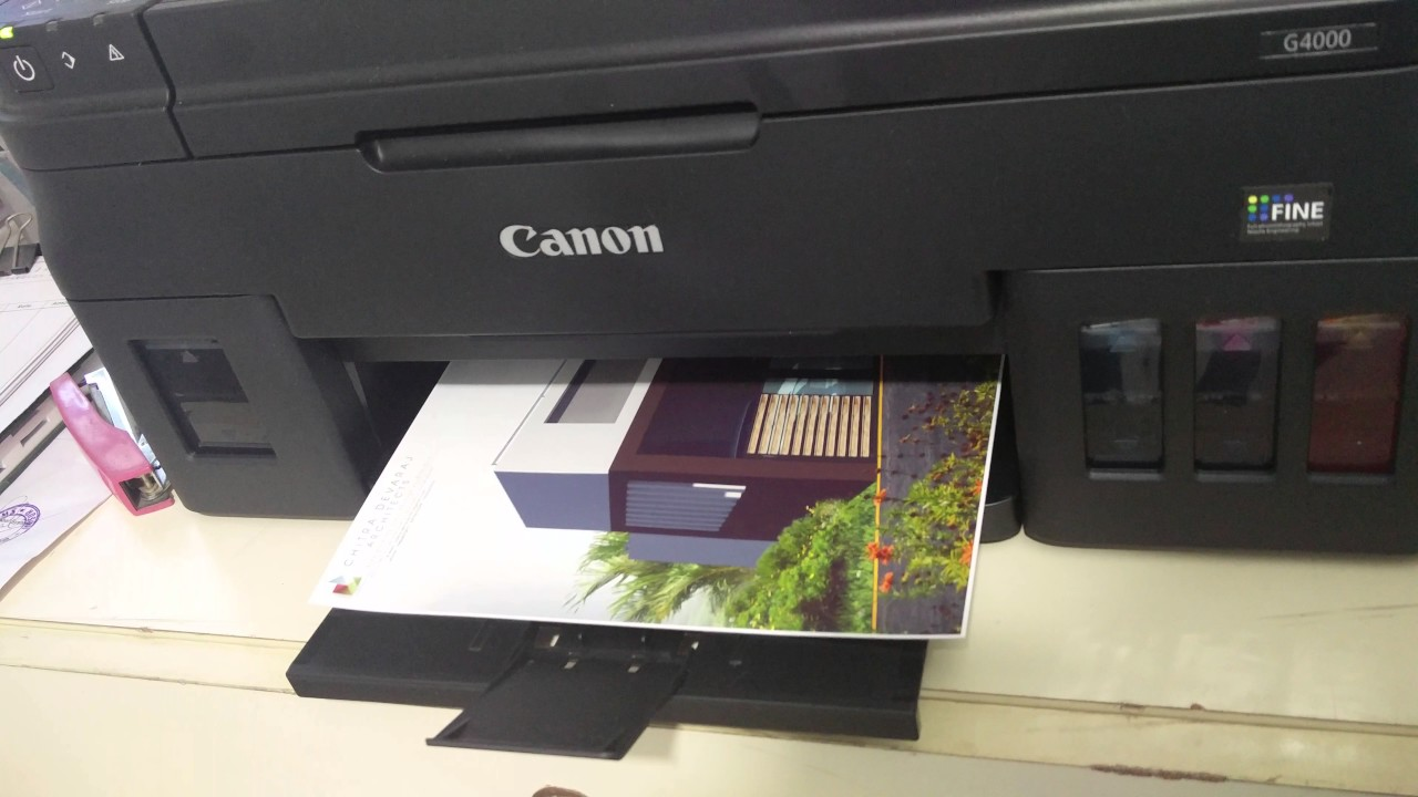 Canon Pixma G4000 Architecture Photoprint Quality Test Youtube Inkjet Printer G4010 Print Scan Copy Fax Wifi