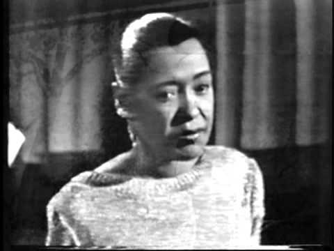 BILLIE HOLIDAY.  Strange Fruit.  Live February 1959 Kinescope