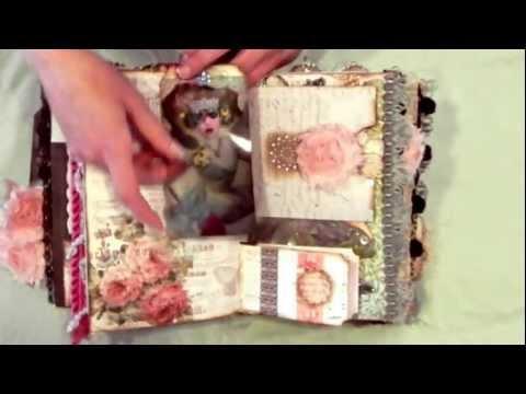Altered Fairy Book/Mini Album - Fairy Dreamz Etc. (Mixed Media Girls) - SOLD