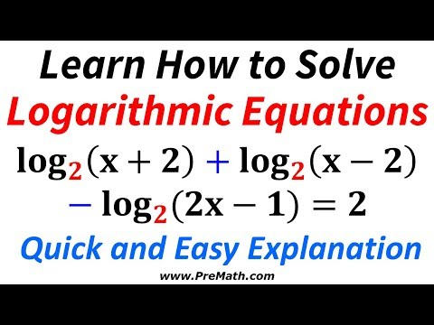 How to Solve This Long Logarithmic Equation Involving Same Bases - Quick and Easy Explanation