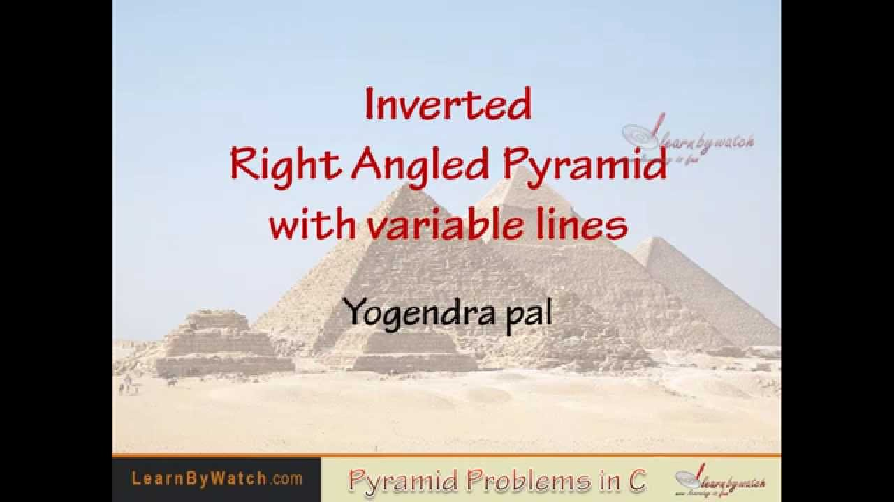 Inverted right angled pyramid with variable lines and symbol in c inverted right angled pyramid with variable lines and symbol in c programming language buycottarizona Image collections