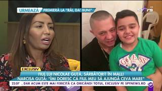 Fiul lui Nicolae Guta, sarbatorit in mall! Ce i-a urat manelistul fiului pe care il are cu ...