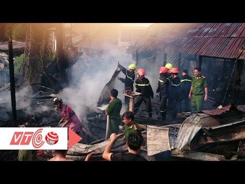 Lửa thiêu rụi ba căn nhà tai An Giang |  VTC