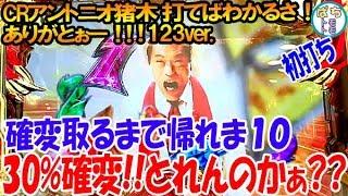 CRアントニオ猪木 打てばわかるさ! ありがとぉー!!! 123ver .確変突入率...
