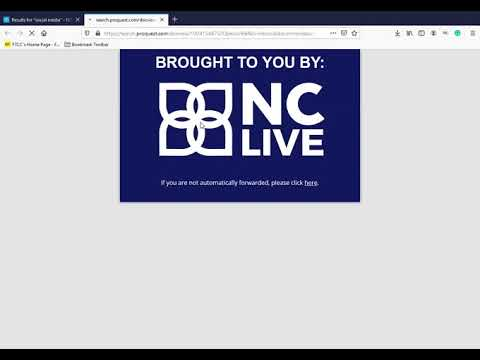 NC Live Databases - Fayetteville Technical Community College