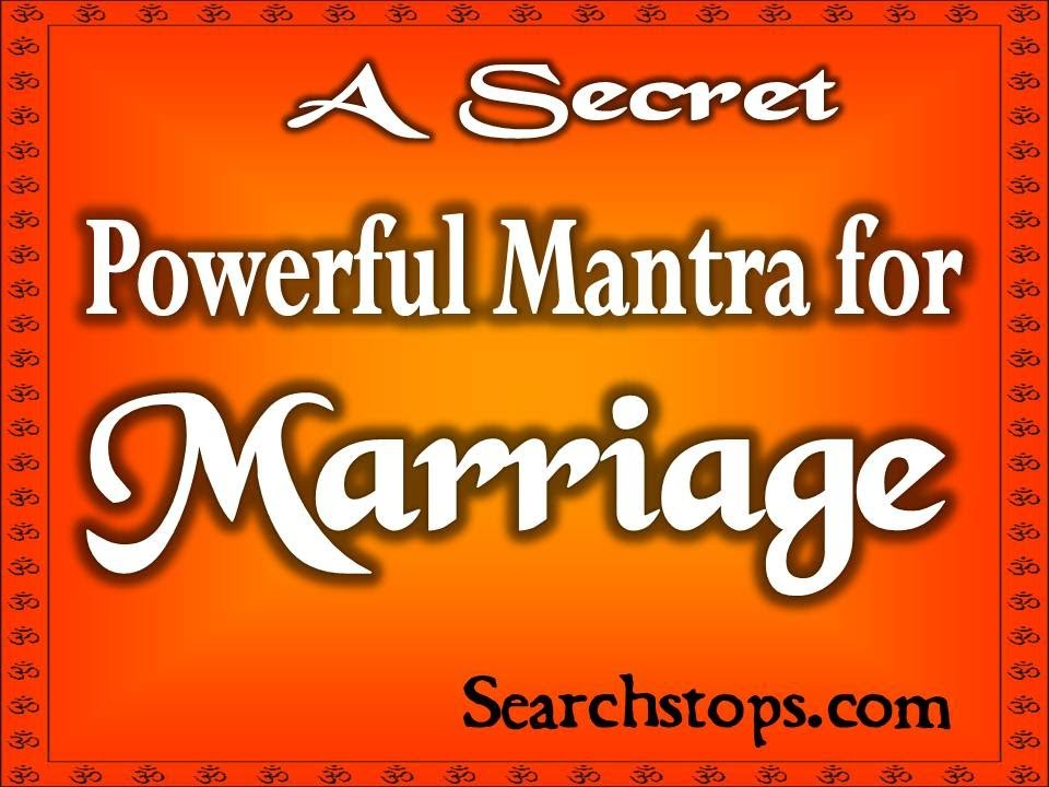 What Mantra for Marriage Without Problems