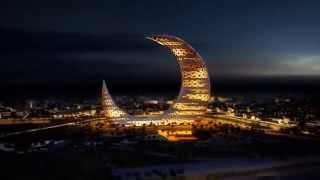 Небоскреб полумесяц Crescent Moon Tower(В Дубае завершился очередной конкурс концептов, на этот раз соревновались в дизайне конструкции-эмблемы..., 2015-03-23T12:10:13.000Z)