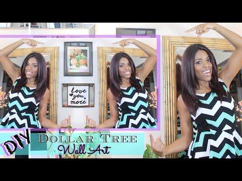 ♥ Glam Home ♥ DIY Dollar Tree Mirrored Wall Art