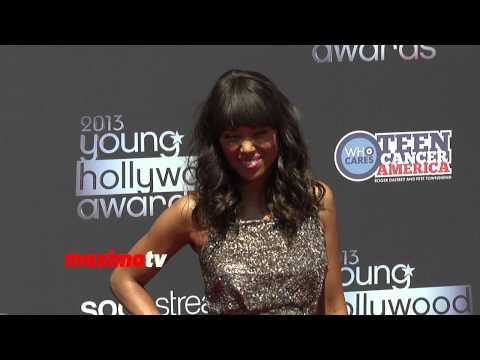 Aisha Tyler Looking Sexy in Mini-Dress 2013 Young Hollywood Awards Arrivals