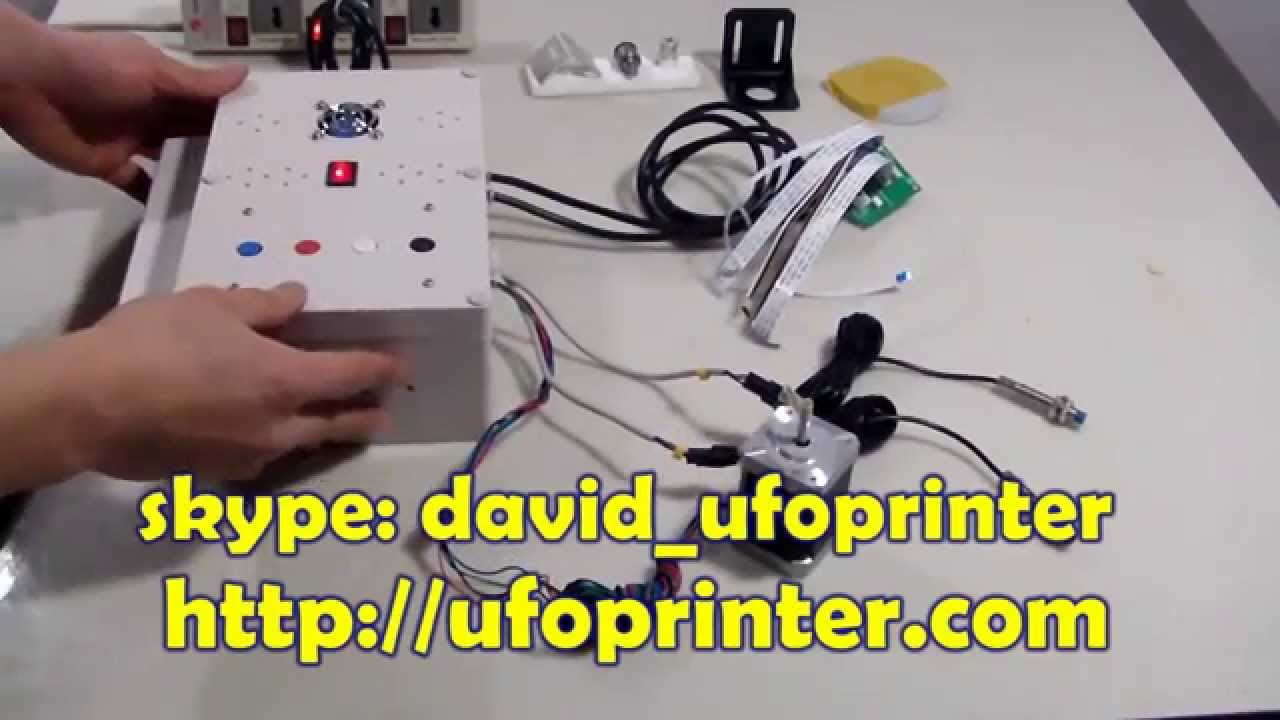 Control Board For Dtg Epson Printer Flatbed Modification Kit Step 4 Wire Stepper Motor Wiring Harness Youtube