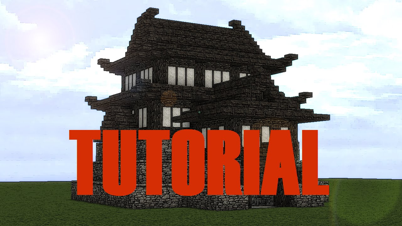 minecraft japanese castle tutorial part 1 - Minecraft Japanese Pagoda