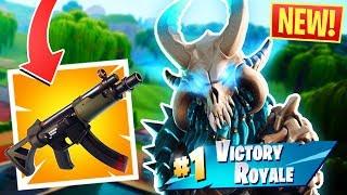 *NEW* SUB MACHINE GUN WIN IN FORTNITE BATTLE ROYALE!!