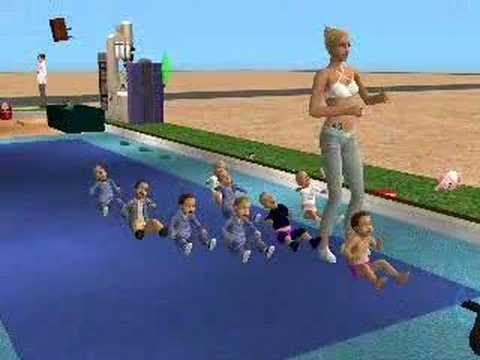 Sims 2 Toddler Exercise Class