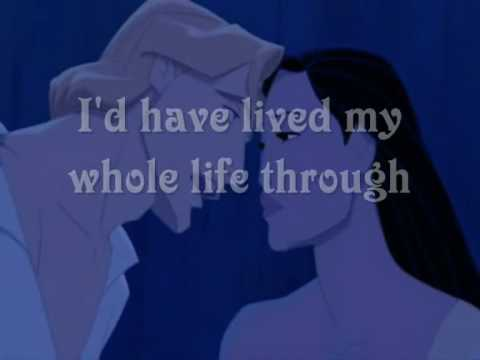 Pocahontas If I Never Knew You  Lyrics