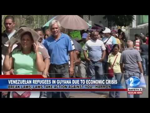VENEZUELAN REFUGEES IN GUYANA DUE TO ECONOMIC CRISIS