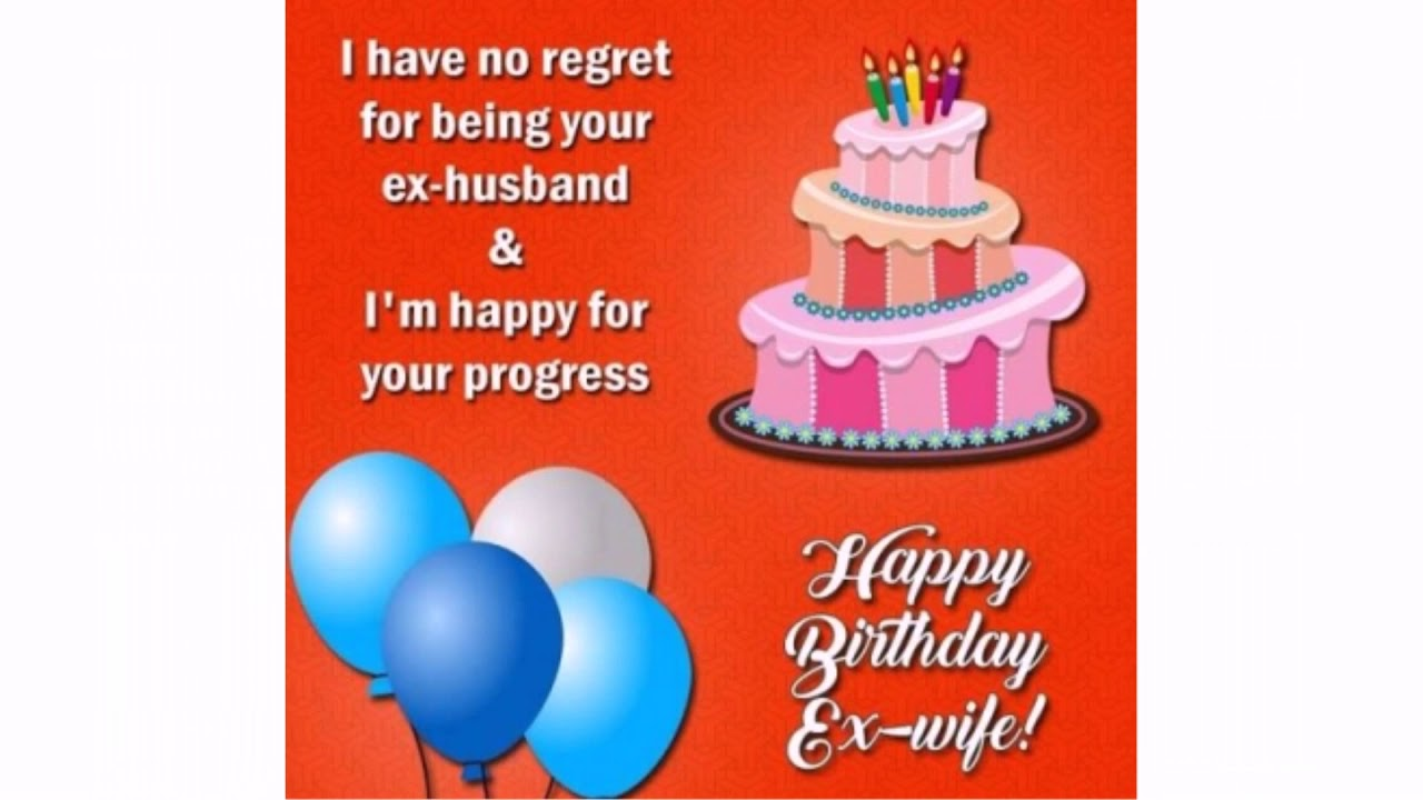 Happy Birthday Ex Wife Quotes  WishesGreeting