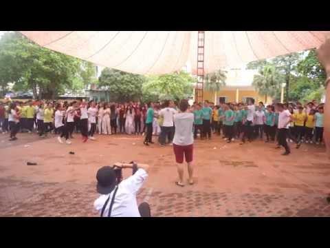 Nhảy Flashmob, hát Tạm Biệt Nhé   Tập thể học sinh khóa 12-15   Trường THPT Chuyên Hoàng Văn Thụ