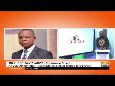 MMDCEs Appointment: How should President and agitators ensure sanity?(15-4-21)