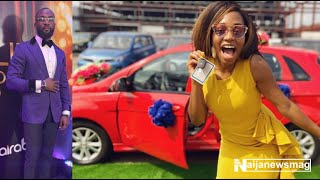 BBNaija39s Khafi and Gedoni loved up as she gets her Car from Innoson motors in Anambra state
