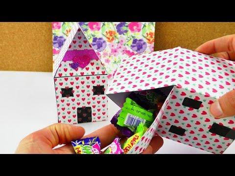DIY Geschenk Verpackung | Haus zum selber befüllen | Süßigkeiten, Gutscheinen oder für Kinder