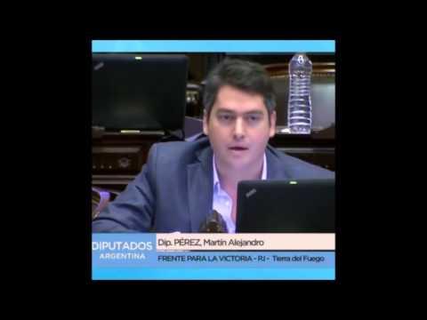 Diputado NAcional Martín Perez, Tierra del Fuego desnuda a Macri
