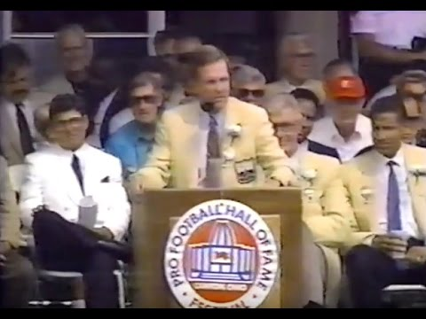 1990 Bob Griese of the Miami Dolphins Hall of Fame Induction