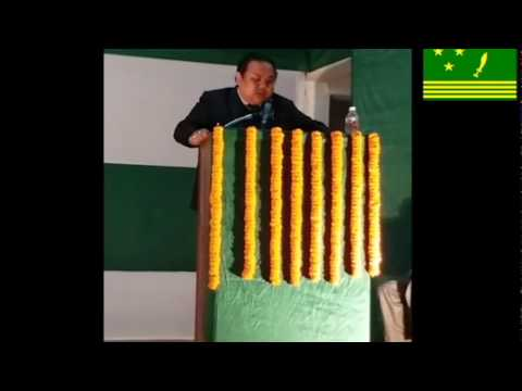 #NeerajZimbaTamang #speech in #GDNSHall #Kurseong on occasion of 38th #GNLF #FoundationDay.