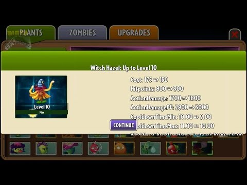 Plants vs Zombies 2 - Witch Hazel Leveling Up (Unfinished)