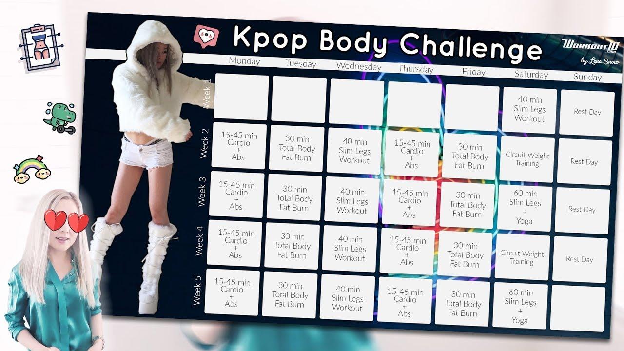 KPOP Body Challenge ? Get a Kpop Idol Body in 30 Days ...