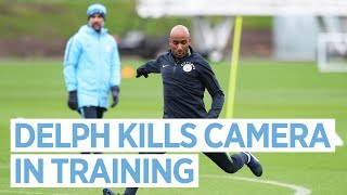Fabian Delph Kills a Camera and Kyle Walker runs away from Training | Man City