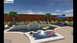 Custom Pools Design Mirage Shaddock Homes Allen, Texas.avi