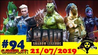 #94 RAID: Shadow Legends | Темный осколок, 4-й КБ, таланты Сайлар, Вопрос-Ответ | 21/07/2019