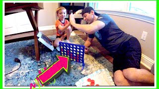 Connect 4 Challenge | Son vs Father Board Game Challenge | How to Play Connect Four