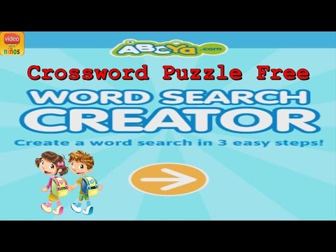 Crossword Puzzle Free Kids Third Grade Word Games Youtube