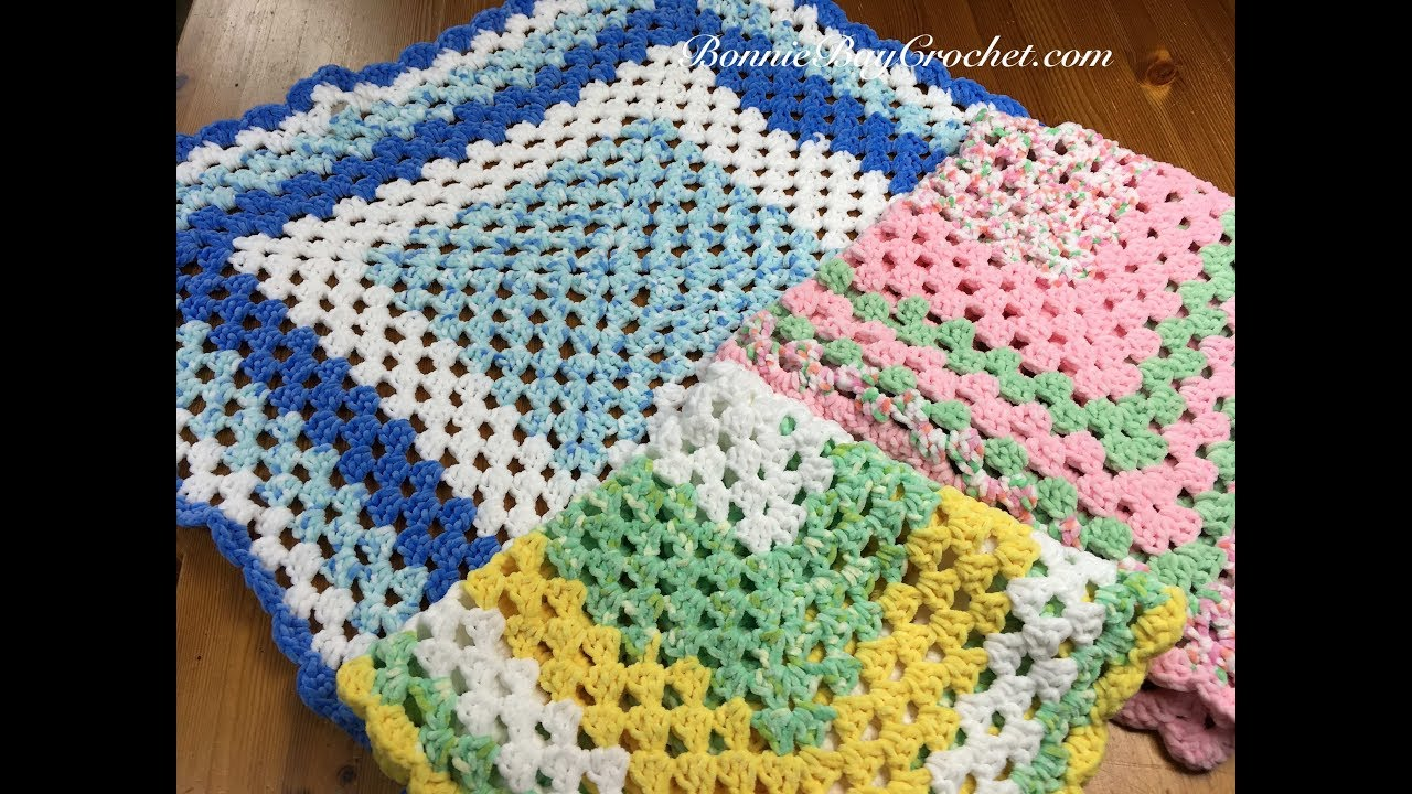 Easy Beginners Granny Square Baby Blanket With Bonnie Barker Youtube