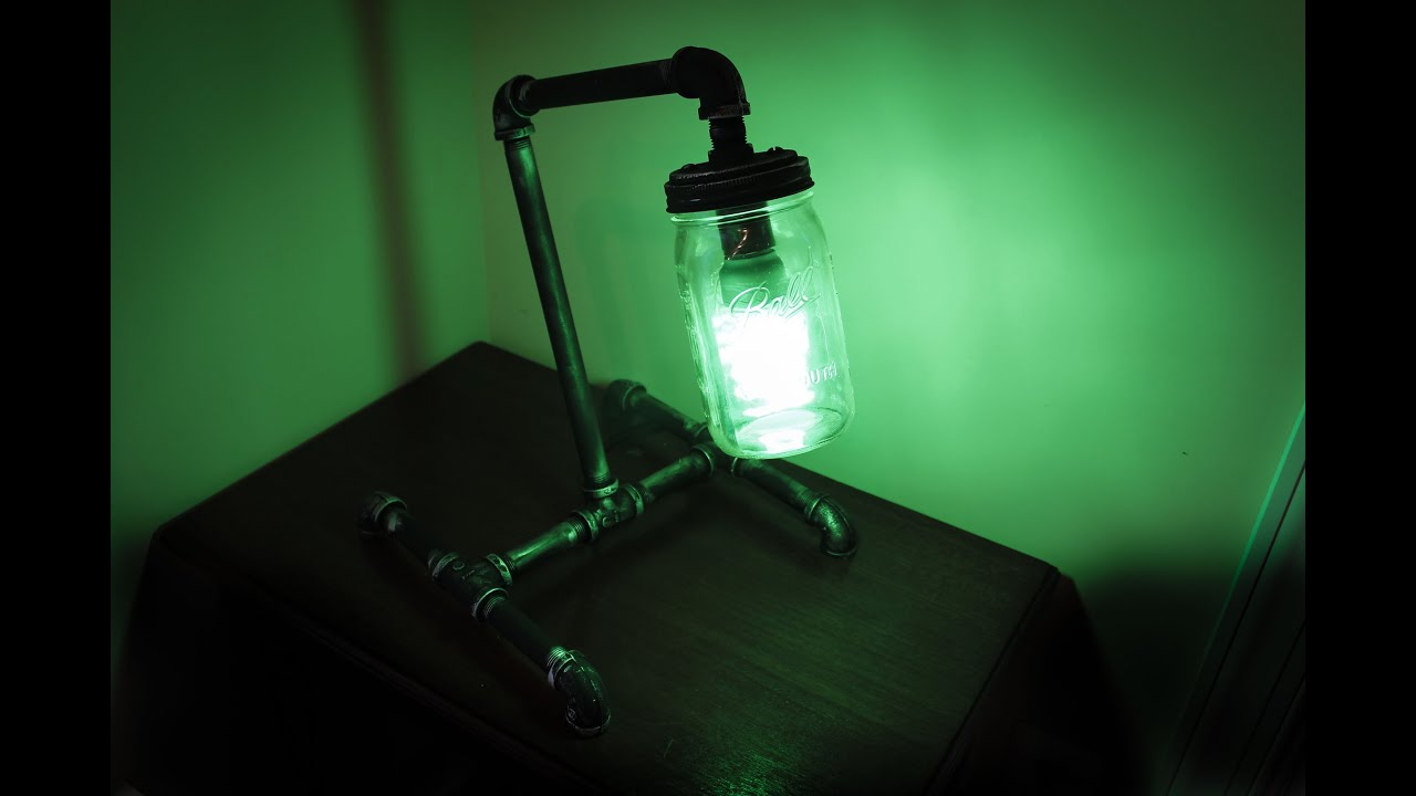 Mason Jar Pipe Lamp - YouTube on homemade pipe bumper, homemade deer horn lamps, homemade tobacco water, homemade pipe light, homemade pipe pen, homemade pipe bowl, homemade pipe bar, homemade pipe table, homemade pipe wood, homemade pipe car, homemade pipe shade, homemade pipe stand, homemade pipe plug, homemade pipe screen, homemade pipe stove,