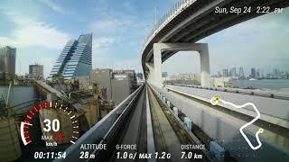 スーパーワイド動画に速度や高さ、移動距離を表示!KYOCERA TORQUE G03 Action Overlay FHD動画 ゆりかもめ 青海→新橋 thumbnail