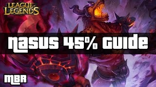 Nasus Guide - 45% Cool Down Build - Season 6 - League Of Legends
