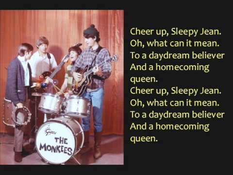 Daydream Believer- The Monkees: Lyrics/Pictures