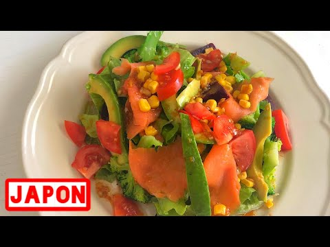 recette-salade-japonaise-saumon-avocat-プロが日本食材無しでマジうまい和風サラダ-【ヘルシー飯テロ】