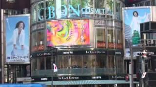 矢野由美個展CM 銀座4丁目交差点 銀座三愛ビル 大型映像ビジョンに放映...