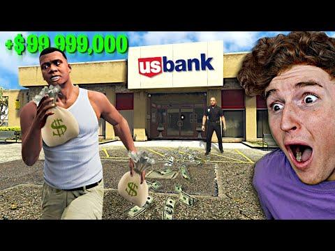 Robbing A ULTRA MEGA Bank In GTA 5.. (Mods)