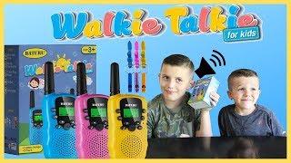 Best Walkie Talkies for kids 2019 - BATURU Kids Walkie Talkies review unboxing and play