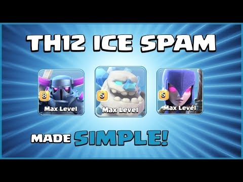 *3 STAR GLORY* Best TH12 Attack Strategy - NO SKILL REQUIRED! - Clash Of Clans