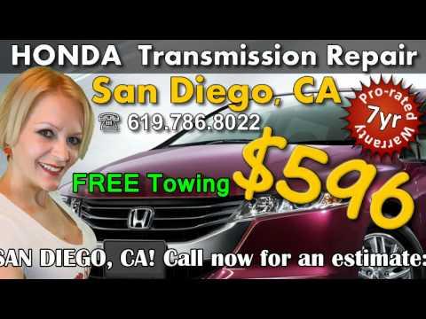 $596 HONDA transmission repair, San Diego, CA, transmission rebuild service shop 619.786.2088
