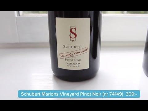 Schubert Pinot Noir från 2 ursprung – Provning