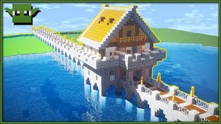 Minecraft Fortified Bridge Tutorial (EASY 5X5 BUILDING SYSTEM)
