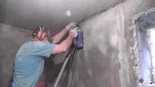 Котельная частного дома ,часть3 , штробление стен , поготовка к  прокладке эл кабелей(Готовим стены , под эл монтаж , прокладка кабелей . и выдалбливание ниши , под эл. щит., 2015-05-29T22:18:02.000Z)