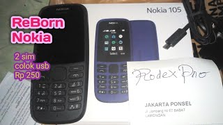 Handphone Hape Hp Jadul Nokia 105 Garansi New 2019