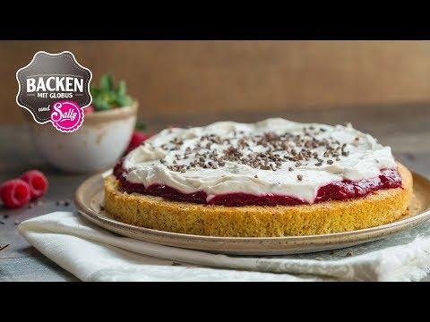Glutenfreie Erdbeer-Himbeertorte | Backen mit Globus & Sallys Welt #87